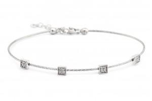Серебряный минималистичный браслет