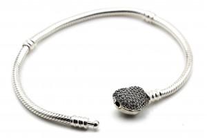 Серебряный браслет для шармов с фианитами