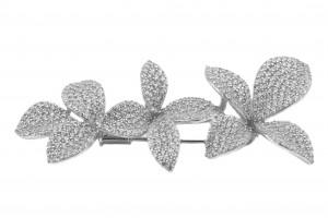 Серебрянная брошка с фианитами