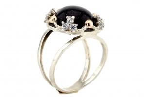 Серебряное кольцо с авантюритом