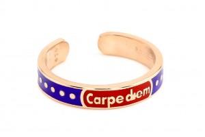 """Серебряное кольцо """"Carpe diem"""" (Лови момент)"""