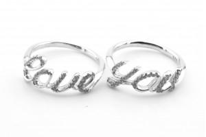 Парные серебряное кольца