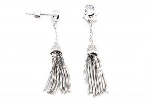 Серебряные серьги-кисточки