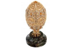 Золотое сувенирное яйцо