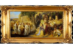 """Копия картины Генриха Семирадского """"Христос и грешница"""""""