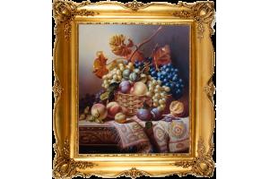"Копия картины Виллияма Дафилда ""Натюрморт с фруктами"""