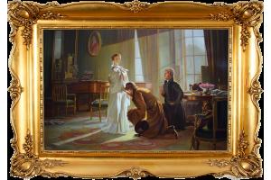 """Копия картины Генри Веллса """"Королева Виктория узнает о смерти дяди"""""""