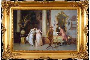 """Копия картины Франческо Беда """"В мастерской"""""""