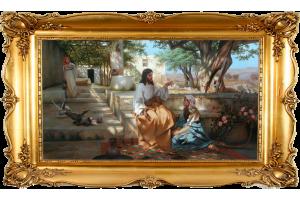 """Копия картины Генриха Семирадского """"Христос в доме Марии и Марфы"""""""