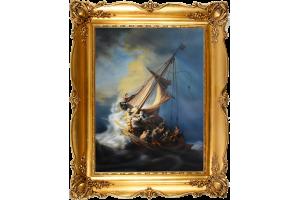 """Копия картины Рембрандта Харменса Ван Рейна """"Христос в шторм в Галлилейском море"""""""