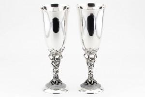 Серебряный бокалы (набор 2 штуки)