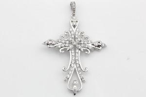Золотой крестик с бриллиантами