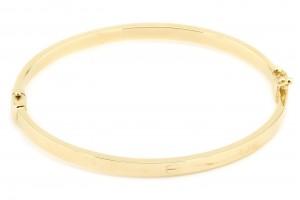 Золотой жесткий браслет