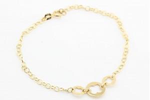Золотой минималистичный браслет