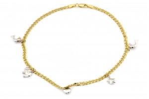 Золотой браслет на ногу (26 размер)