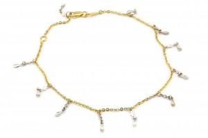Золотой браслет на ногу (23 размер)