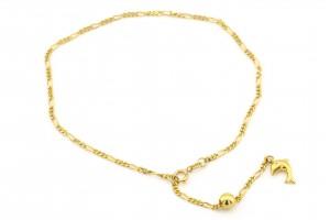 Золотой браслет на ногу (21 размер)