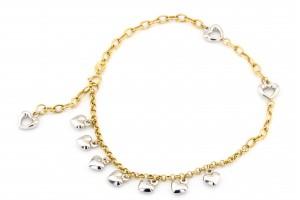 Золотой браслет на ногу (22 размер)