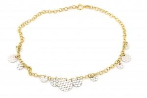 Золотой браслет на ногу (25 размер)