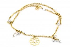 Золотой браслет на ногу (24 размер)