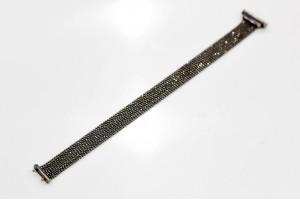 Золотой браслет покрытый черным родием