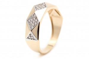 Золотое геометрическое кольцо