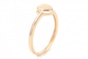"Золотое кольцо ""Сердечко"" в стиле минимализм"