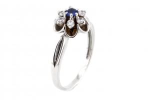 Золотое кольцо (шпинель, фианиты)
