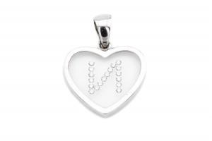 """Золотая подвеска буква """"И"""" в форме сердца"""