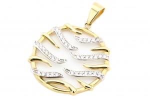 Золотая подвеска с фианитами