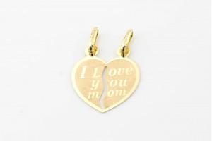 "Золотая подвеска ""I love you mom"""