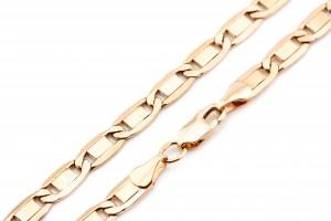 Золотая цепочка из красного золота