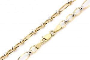 Золотая цепочка из желтого и белого золота
